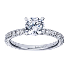 Load image into Gallery viewer, Gabriel Bridal Collection White Gold Straight Engagement Ring (0.42 ctw)