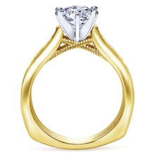 Load image into Gallery viewer, Gabriel Bridal Collection Yellow Gold Straight Engagement Ring (0.54 ctw)