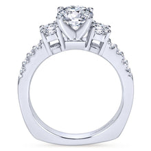 Load image into Gallery viewer, Gabriel Bridal Collection White Gold 3 Stones Engagement Ring (0.58 ctw)
