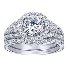 Load image into Gallery viewer, Gabriel Bridal Collection White Gold Halo Engagement Ring (0.48 ctw)