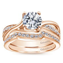Load image into Gallery viewer, Gabriel Bridal Collection Rose Gold Bypass Engagement Ring (0.16 ctw)