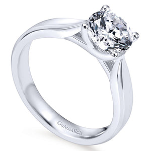 Gabriel Bridal Collection White Gold Round Solitaire Engagement Ring (0 ctw)