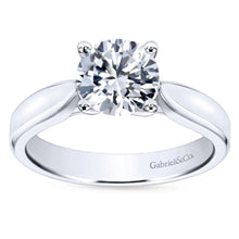 Load image into Gallery viewer, Gabriel Bridal Collection White Gold Round Solitaire Engagement Ring (0 ctw)