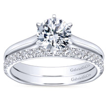 Load image into Gallery viewer, Gabriel Bridal Collection White Gold European Shank Solitaire Engagement Ring (0 ctw)