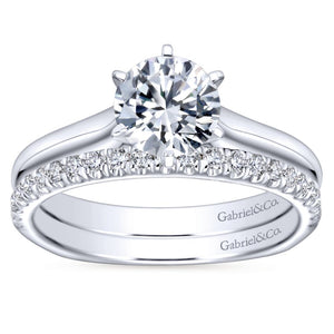 Gabriel Bridal Collection White Gold European Shank Solitaire Engagement Ring (0 ctw)