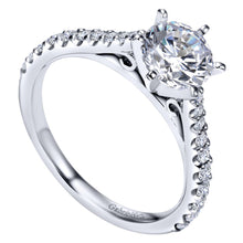 Load image into Gallery viewer, Gabriel Bridal Collection White Gold Straight Engagement Ring (0.36 ctw)
