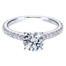 Load image into Gallery viewer, Gabriel Bridal Collection White Gold Straight Engagement Ring (0.47 ctw)
