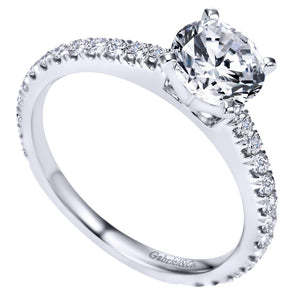 Gabriel Bridal Collection White Gold Straight Engagement Ring (0.47 ctw)