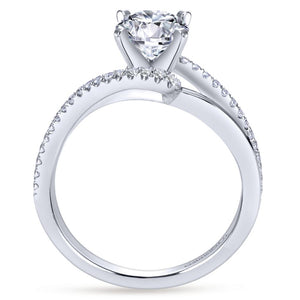 Gabriel Bridal Collection White Gold Diamond Diamond Accent Bypass Engagement Ring (0.2 ctw)