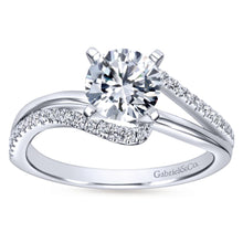 Load image into Gallery viewer, Gabriel Bridal Collection White Gold Diamond Diamond Accent Bypass Engagement Ring (0.2 ctw)