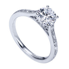 Load image into Gallery viewer, Gabriel Bridal Collection White Gold Straight Engagement Ring (0 ctw)