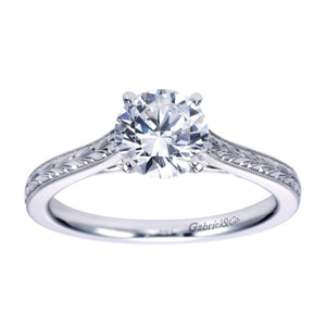 Gabriel Bridal Collection White Gold Straight Engagement Ring (0 ctw)