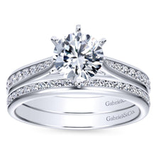 Load image into Gallery viewer, Gabriel Bridal Collection White Gold Diamond Straight Engagement Ring with Channel Setting (0.33 ctw)