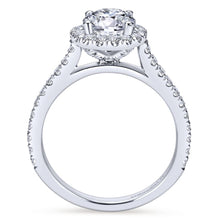 Load image into Gallery viewer, Gabriel Bridal Collection White Gold Halo Engagement Ring (0.65 ctw)