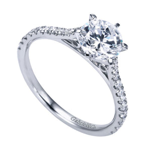 Gabriel Bridal Collection White Gold Straight Engagement Ring (0.27 ctw)