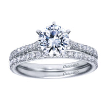 Load image into Gallery viewer, Gabriel Bridal Collection White Gold Straight Engagement Ring (0.27 ctw)