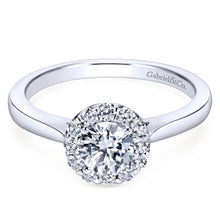 Load image into Gallery viewer, Gabriel Bridal Collection White Gold Halo Engagement Ring (0.22 ctw)