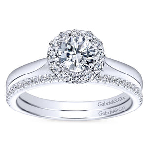 Gabriel Bridal Collection White Gold Halo Engagement Ring (0.22 ctw)