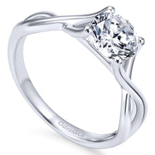Load image into Gallery viewer, Gabriel Bridal Collection White Gold Polished Criss Cross Engagement Ring (0 ctw)