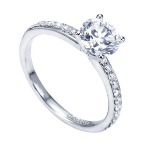 Gabriel Bridal Collection White Gold Straight Engagement Ring (0.25 ctw)
