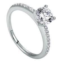 Load image into Gallery viewer, Gabriel Bridal Collection White Gold Straight Engagement Ring (0.16 ctw)