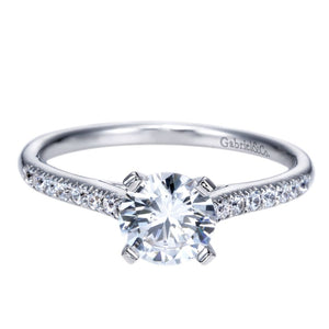 Gabriel Bridal Collection White Gold Straight Engagement Ring (0.16 ctw)