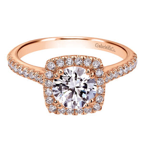 Gabriel Bridal Collection Rose Gold Halo Engagement Ring (0.39 ctw)