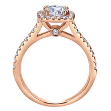 Load image into Gallery viewer, Gabriel Bridal Collection Rose Gold Halo Engagement Ring (0.39 ctw)
