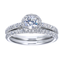 Load image into Gallery viewer, Gabriel Bridal Collection White Gold Halo Engagement Ring (0.32 ctw)