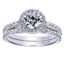 Load image into Gallery viewer, Gabriel Bridal Collection White Gold Halo Engagement Ring (0.41 ctw)