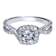 Load image into Gallery viewer, Gabriel Bridal Collection White Gold Halo Engagement Ring (0.4 ctw)