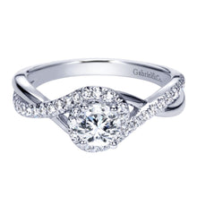 Load image into Gallery viewer, Gabriel Bridal Collection White Gold Halo Engagement Ring (0.27 ctw)