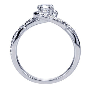Gabriel Bridal Collection White Gold Halo Engagement Ring (0.27 ctw)