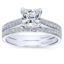 Load image into Gallery viewer, Gabriel Bridal Collection White Gold Straight Engagement Ring (0.32 ctw)