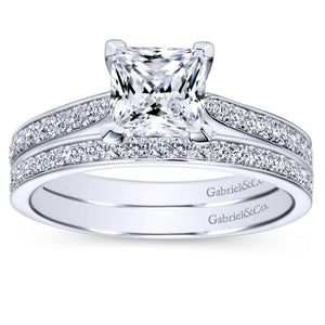 Gabriel Bridal Collection White Gold Straight Engagement Ring (0.32 ctw)