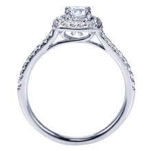 Load image into Gallery viewer, Gabriel Bridal Collection White Gold Halo Engagement Ring (0.36 ctw)