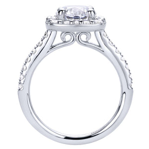 Gabriel Bridal Collection White Gold Halo Engagement Ring (0.67 ctw)