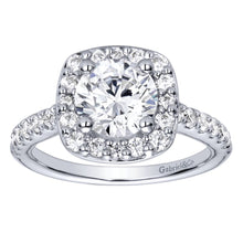 Load image into Gallery viewer, Gabriel Bridal Collection White Gold Halo Engagement Ring (0.67 ctw)