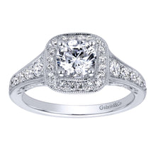 Load image into Gallery viewer, Gabriel Bridal Collection White Gold Halo Engagement Ring (0.47 ctw)