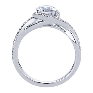 Gabriel Bridal Collection White Gold Criss Cross Engagement Ring (0.14 ctw)