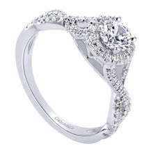 Load image into Gallery viewer, Gabriel Bridal Collection White Gold Halo Engagement Ring (0.25 ctw)