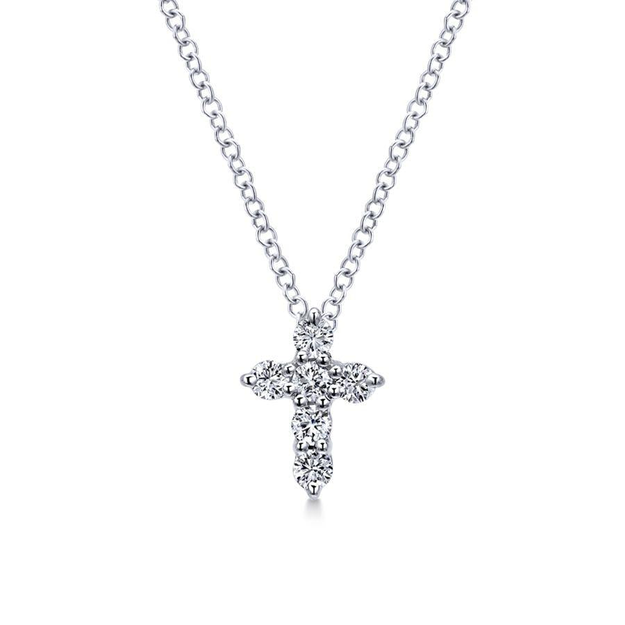 Gabriel & Co. Faith White Gold Necklace (0.24 CTW)