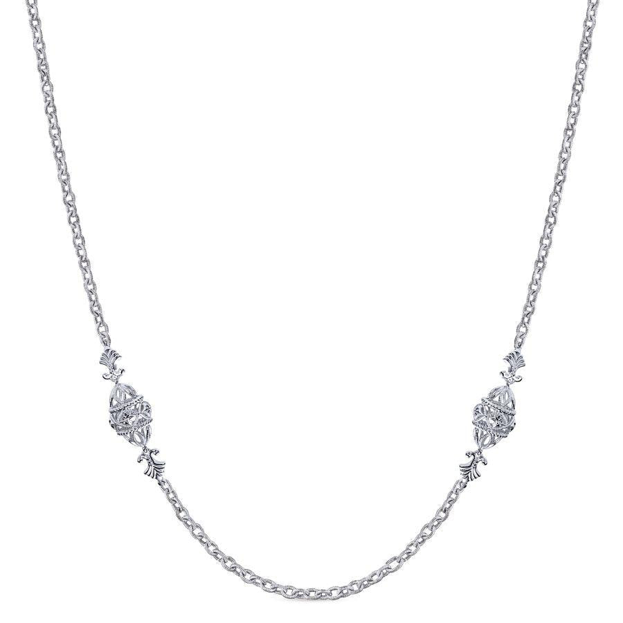 Gabriel & Co. Victorian Sterling Silver Necklace