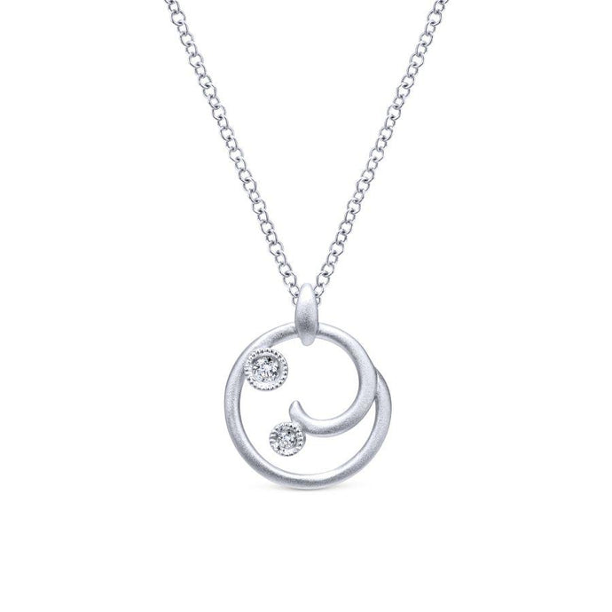 Gabriel & Co. Contemporary Sterling Silver Necklace (0.04 CTW)