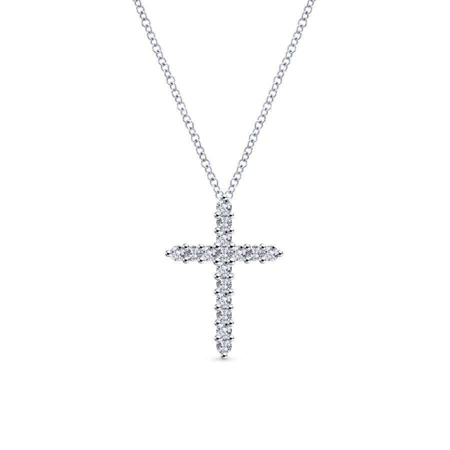 Gabriel & Co. Faith White Gold Necklace (0.28 CTW)