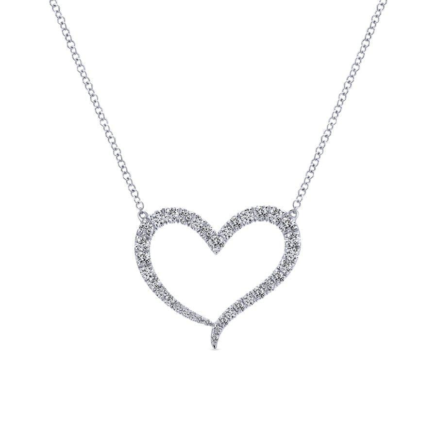 Gabriel & Co. Eternal Love White Gold Necklace (0.49 CTW)