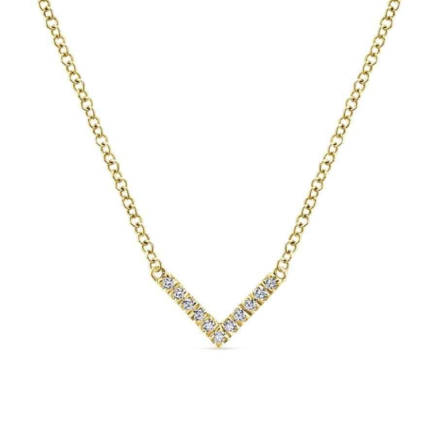 Gabriel & Co. Lusso Yellow Gold Necklace (0.05 CTW)