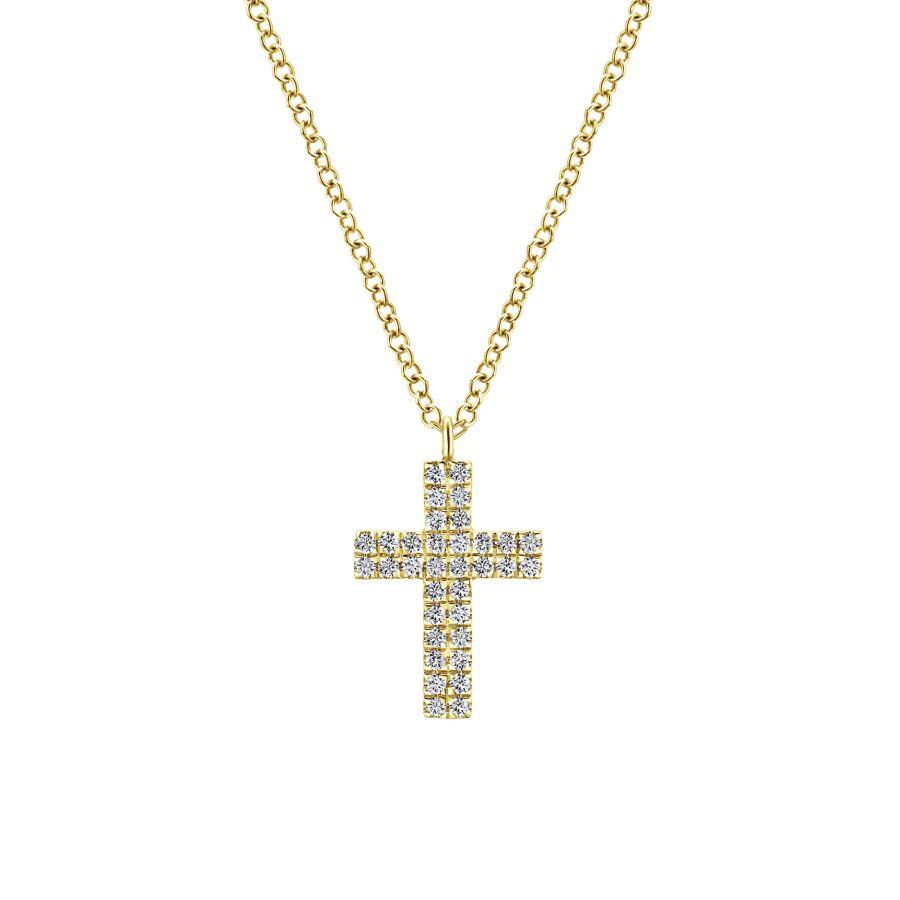 Gabriel & Co. Faith Yellow Gold Necklace (0.17 CTW)