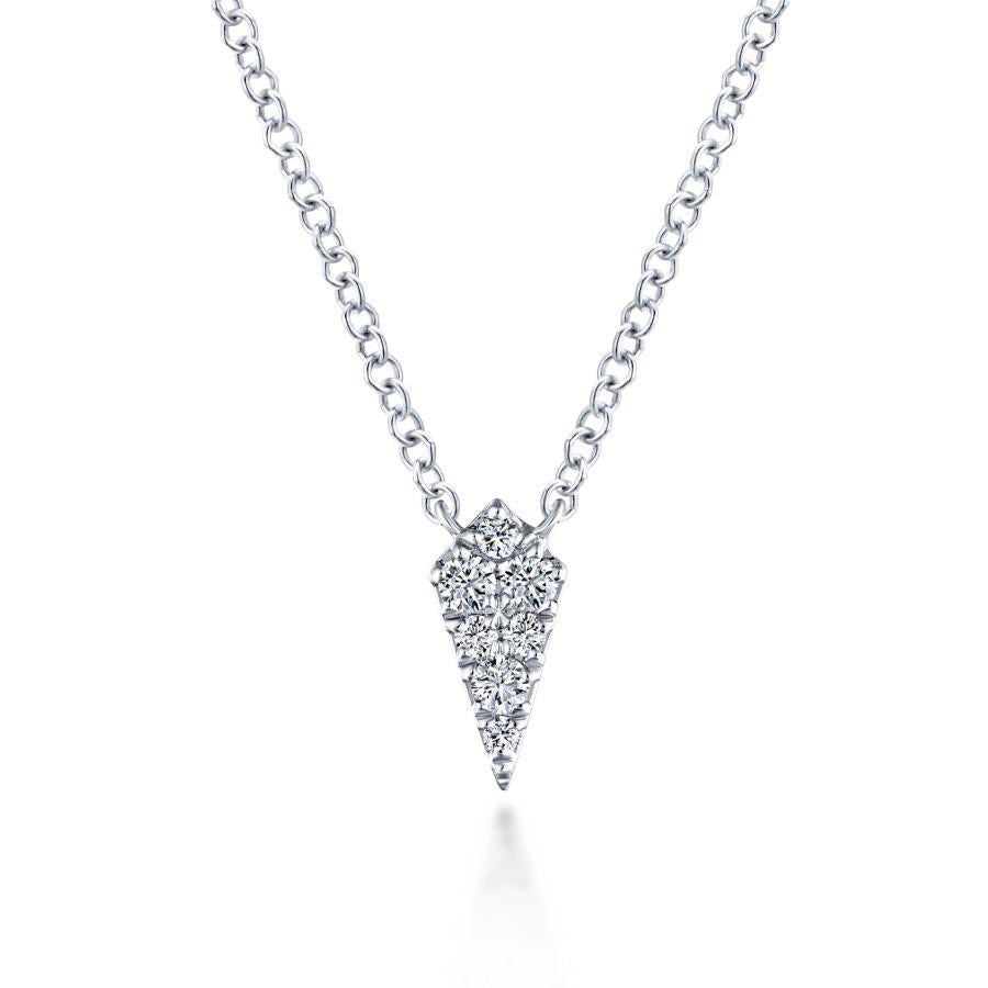 Gabriel & Co. Lusso White Gold Necklace (0.08 CTW)