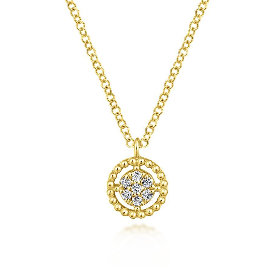 Gabriel & Co. Bujukan Yellow Gold Necklace (0.05 CTW)